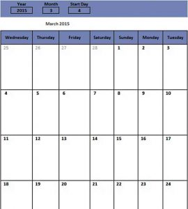 Template sample monthly schedule for free