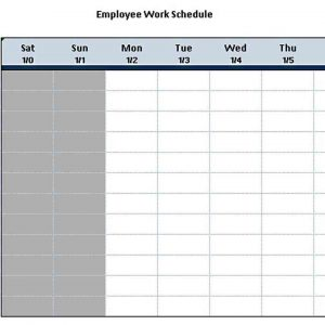 Template the Bi Weekly Work Schedule Template