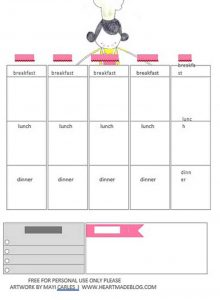 Template weeklymealplanner